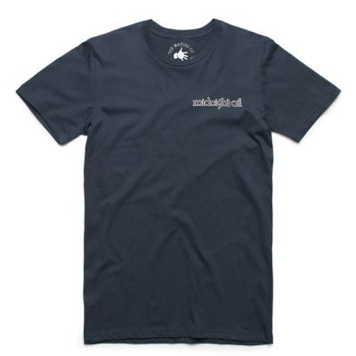 Surfing with a Spoon Navy premium quality/organic  Tshirt