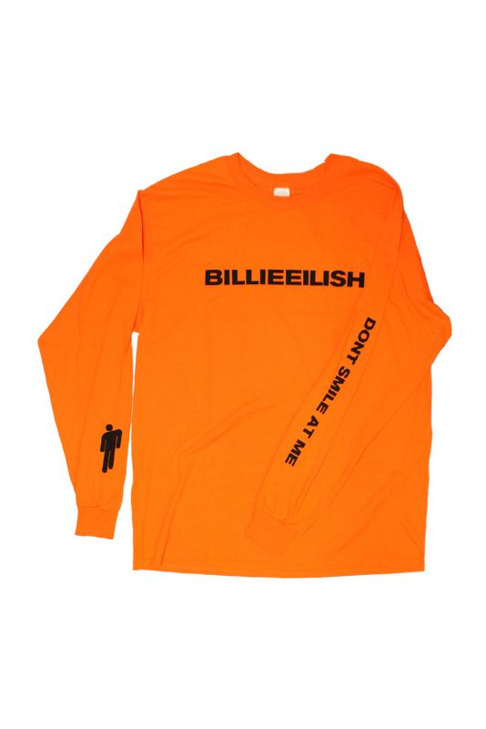 Wide Logo Orange Longsleeve Tshirt Billie Eilish Offical