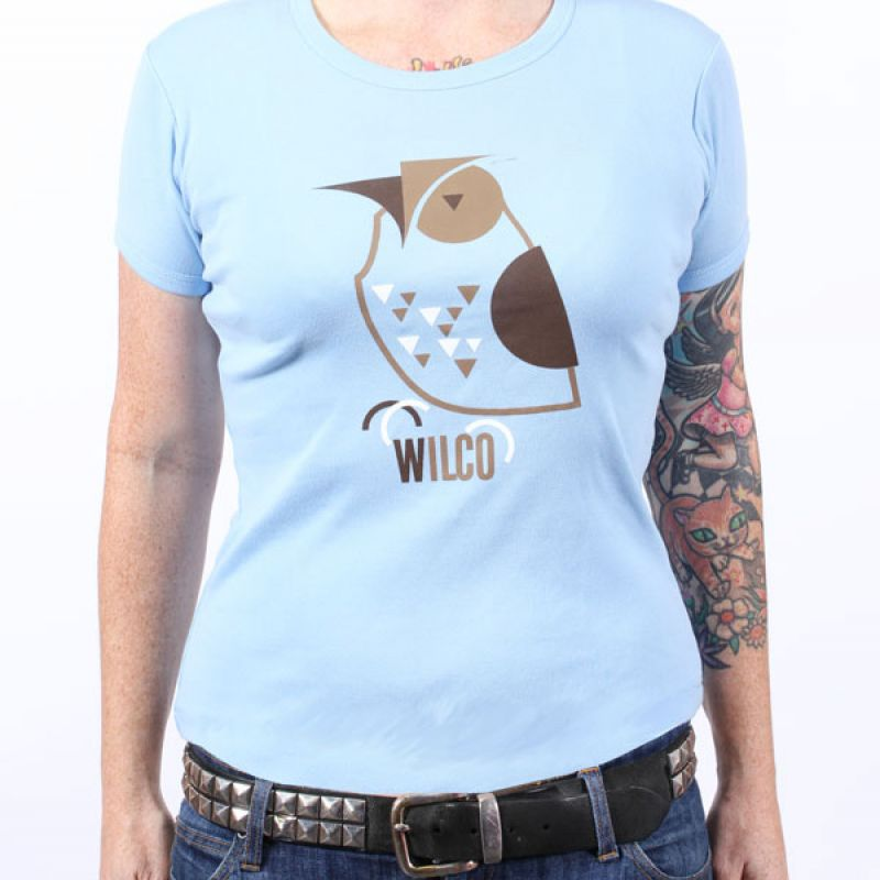 Owl Girls Light Blue Cap Sleeve Tshirt