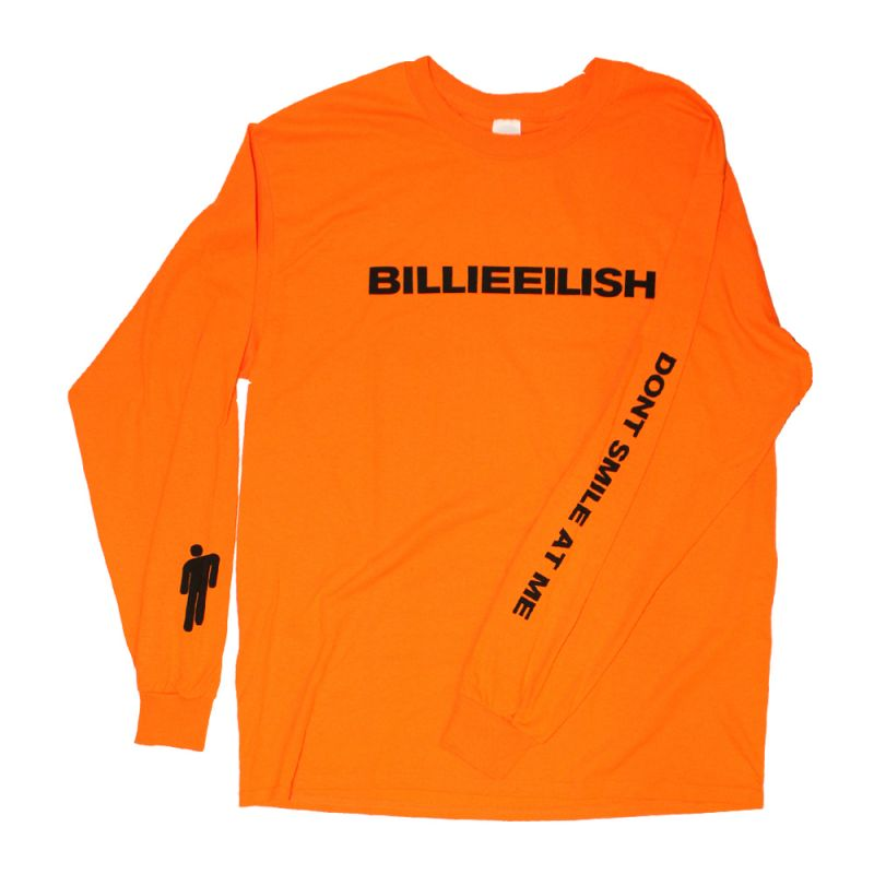 Wide Logo Orange Longsleeve Tshirt