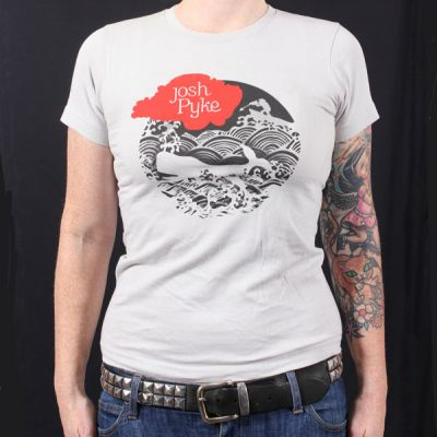 Whale Circle Light Grey Tshirt