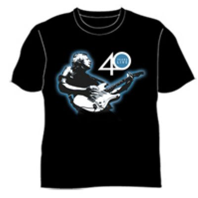 Guitar 40 Years Live Black Tshirt