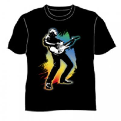 Guitar Full 40 Years Live Black Tshirt
