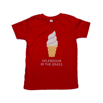 Ice Cream Red Kids Tee