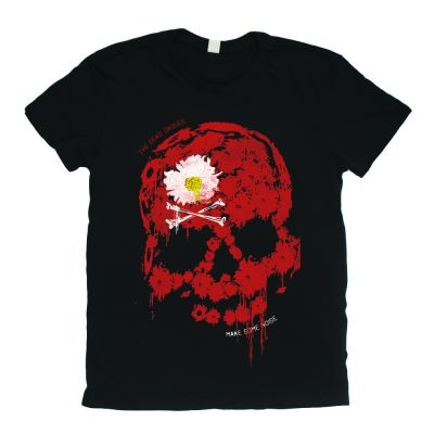 Red Skull Make Some Noise Black Tshirt