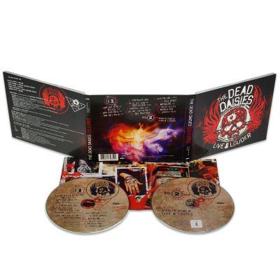 'LIVE AND LOUDER' CD + DVD Digipak