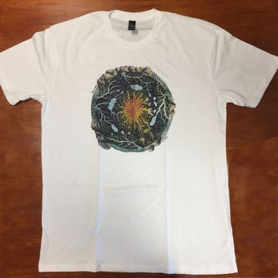 Telluric Album Cover White Tshirt