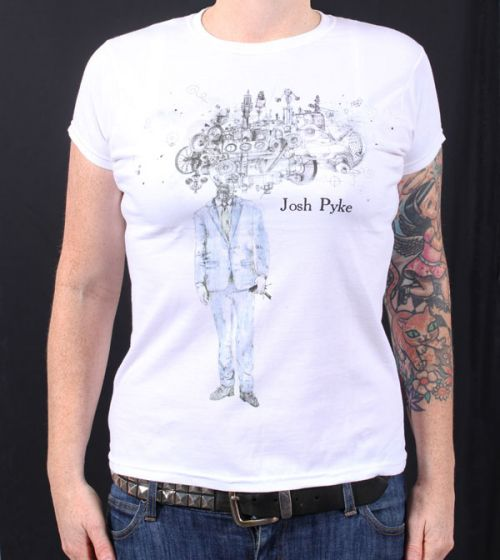 Album Ladies White T Shirt by Josh Pyke