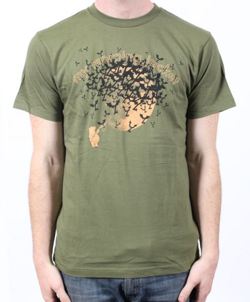 Bears & Bats Jungle Green Tshirt by My Morning Jacket