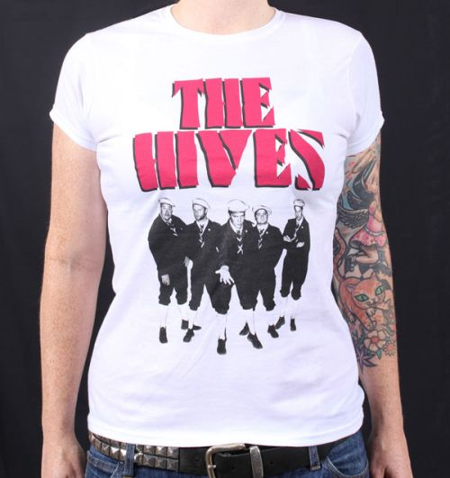 Berets White Tshirt   by The Hives