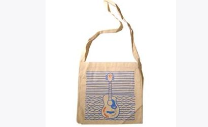 Guitar Sketch Natural Tote Bag by Josh Pyke