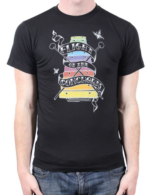 Rockenspiel Black Tshirt by Flight Of The Conchords