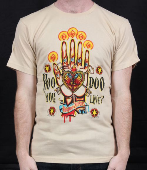 Hoodoo You Love Tan Tshirt by Hoodoo Gurus