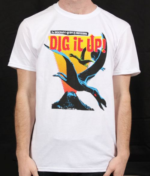 Dig It Up White Event Tshirt 2012 by Hoodoo Gurus