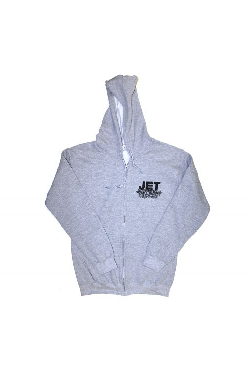 Get Born Crest Grey Marle Hoody by Jet