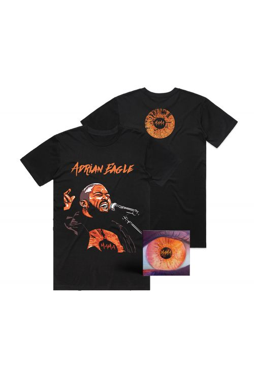 MAMA CD SIGNED AND BLACK TEE BUNDLE by Adrian Eagle