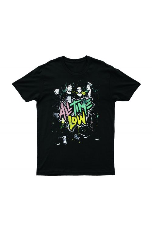 Party On Black Tshirt by All Time Low