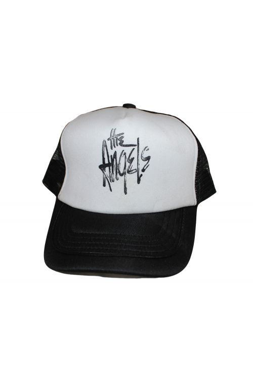 Trucker Cap Black/White Logo by The Angels