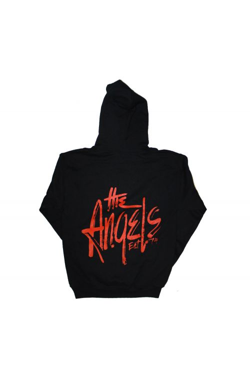 Classic Logo Red Angels Black Hoody by The Angels