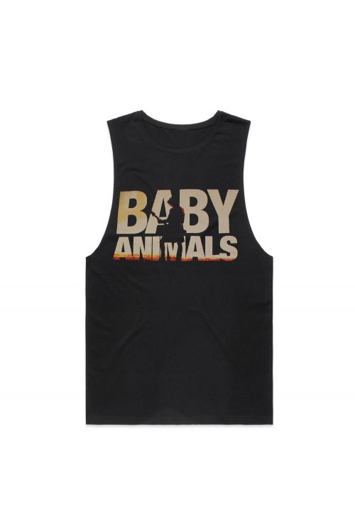 Silhoutte Black 2019 Tour Tank (Front Print Only) by Baby Animals