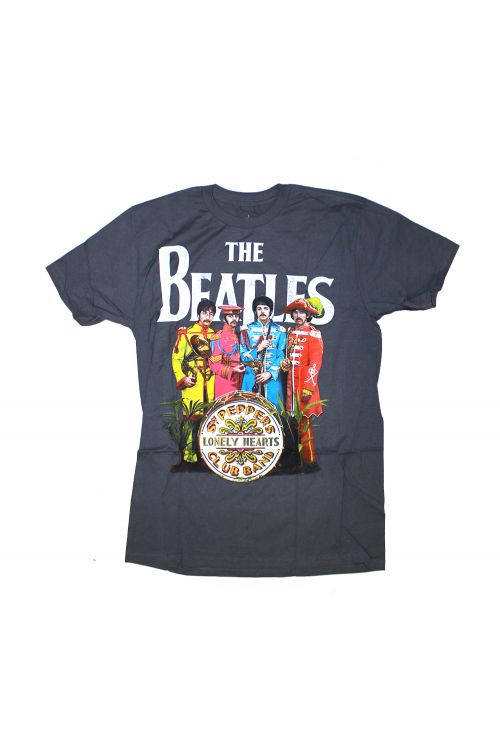 Sgt Pepper Charcoal Tshirt by The Beatles
