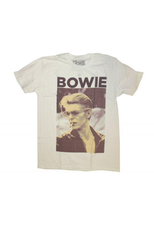 Smoke Photo White Tshirt by David Bowie