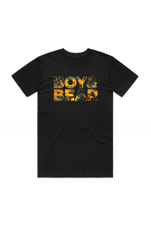 Suck On Light Tour Unisex Black Tshirt by Boy and Bear