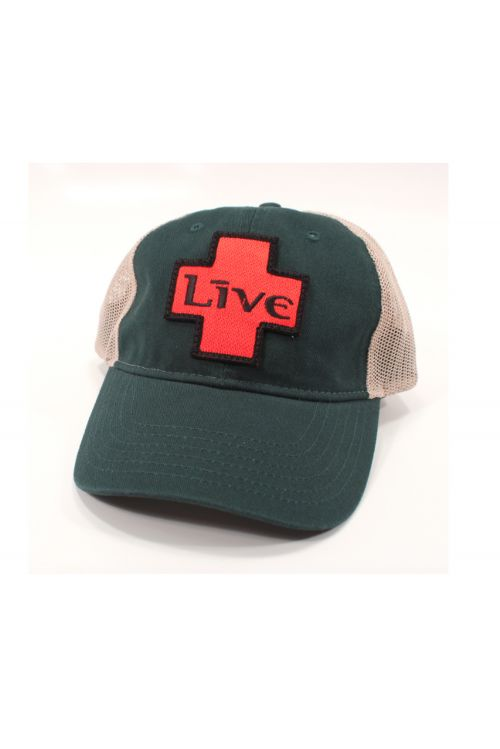 Green/Tan Cap with LIVE Logo Patch by LIVE