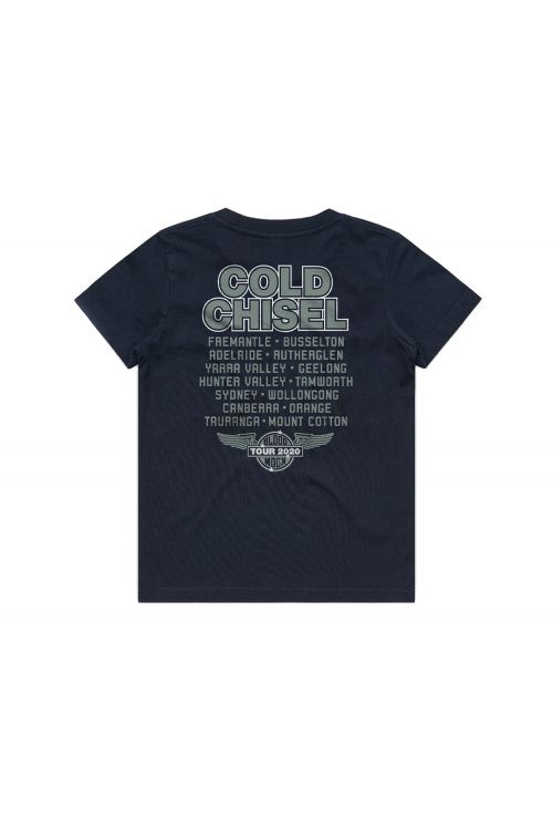 Wings Navy Youth Tee by Cold Chisel