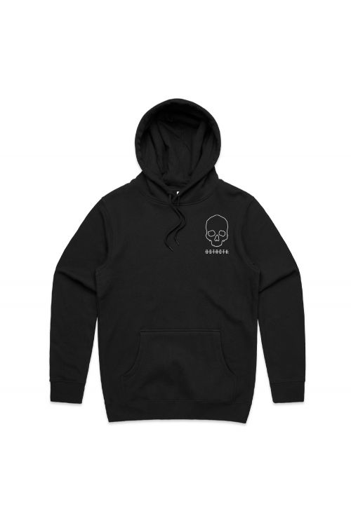 Skull Black Hoody by District X
