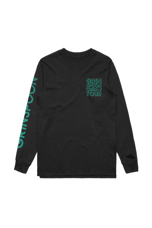 Block Up Black Longsleeve Tshirt by Grinspoon