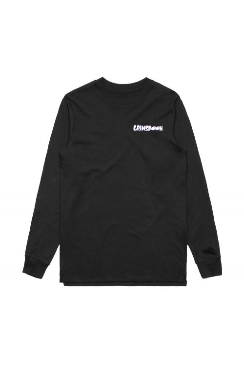 Flame Fink Long Sleeve Black Tshirt by Grinspoon