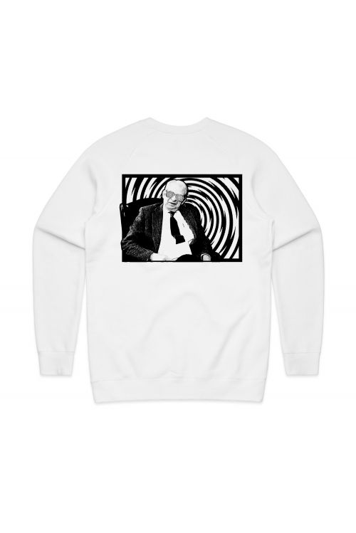 DR. GRINNERS LOGO UNISEX WHITE SWEATSHIRT by Grinspoon