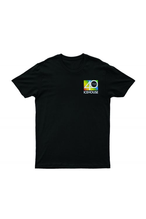 40 Years Live Black Tshirt by Icehouse