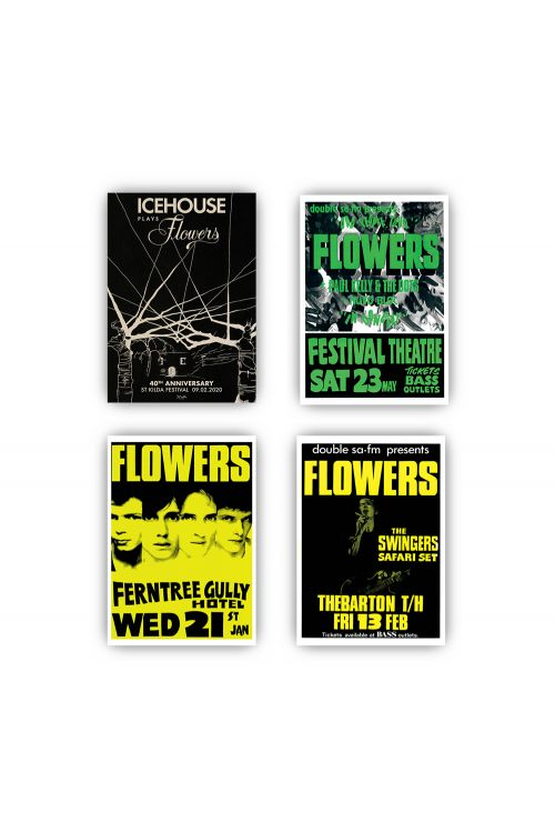 Icehouse Plays Flowers LP (Clear Vinyl)/ Poster Set Bundle by Icehouse