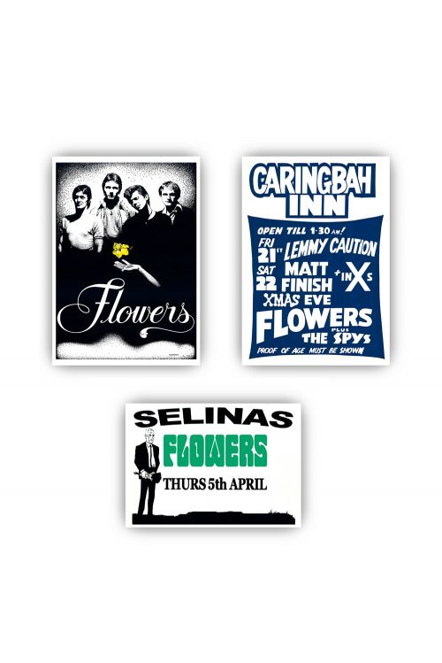 Icehouse Plays Flowers LP (Vinyl)/ Tshirt/ Poster Set Bundle by Icehouse