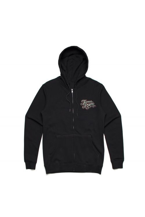 Nose Rider Black Zip Hoody by James Reyne