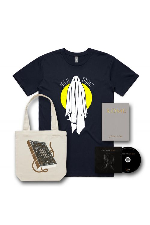 ROME - CD, A5 HARDCOVER BOOK, TSHIRT AND NATURAL TOTE by Josh Pyke