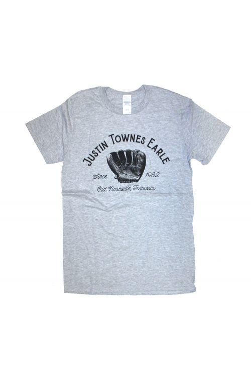 Baseball Glove Grey Tee by Justin Townes Earle