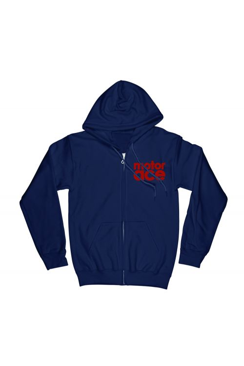 5 Star Laundry Sketch Navy Zip Hood by Motor Ace