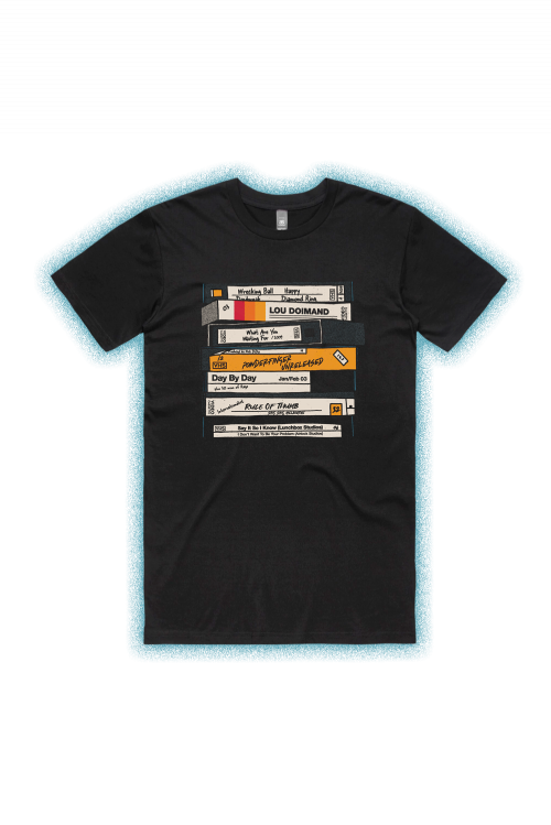 VHS Black Tshirt by Powderfinger