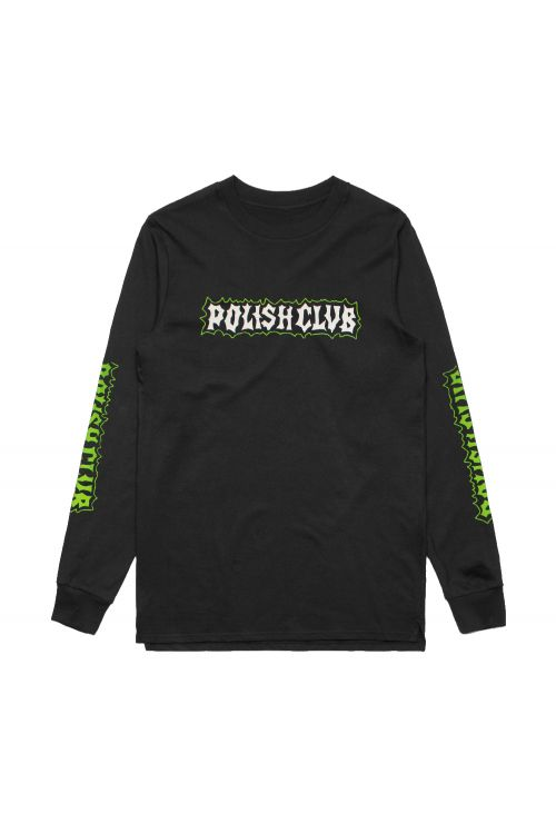 Yewww Black Longsleeve Tshirt by Polish Club
