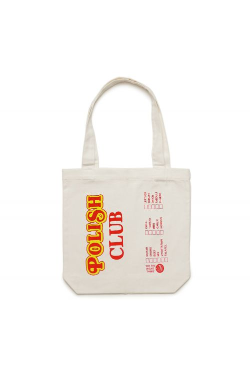 Tote Bag Menu by Polish Club