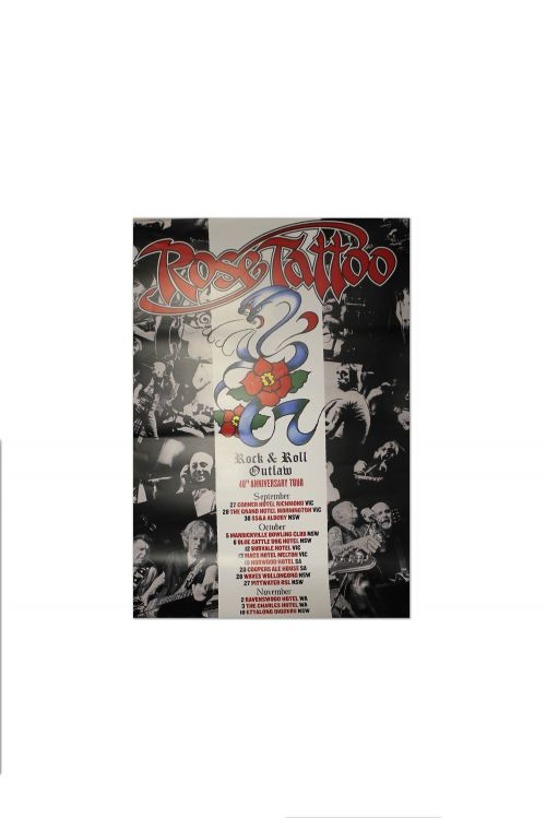 Rock N Roll Outlaw 40th Anniversary Poster (Limited) by Rose Tattoo