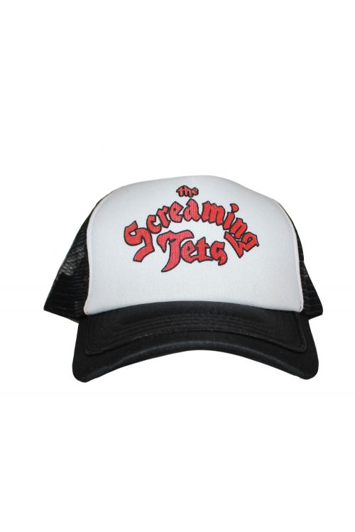 Cursive Red Logo Trucker Cap by The Screaming Jets