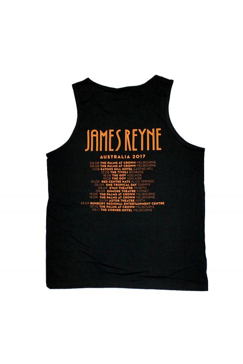 All Crawl Black Singlet by James Reyne