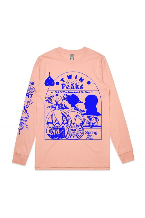 Pink Long Sleeve Tour Tshirt by Twin Peaks
