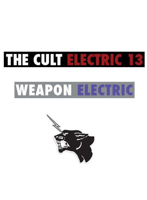 The Cult Electric 13 Sticker Set  by The Cult