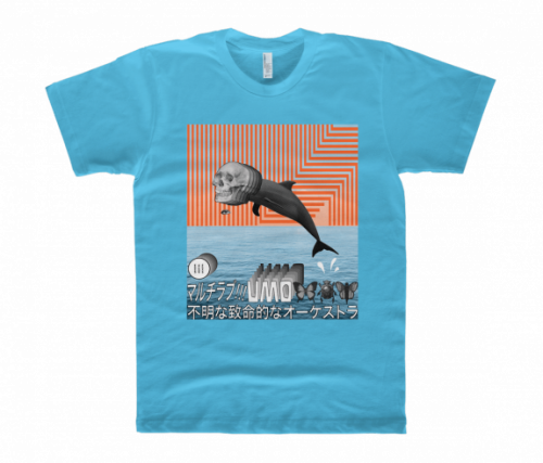 Dolphins Blue Tshirt by Unknown Mortal Orchestra