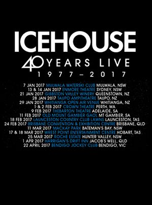 Guitar 40 Years Live Black Tshirt by Icehouse